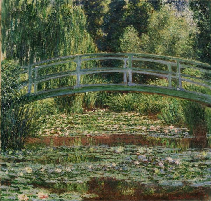 Claude Monet_Ponte japonesa e lagoa de ninféias