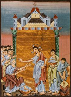 Cristo lavando os pés dos Apóstolos
