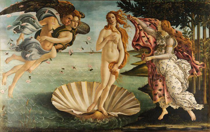 6 - Botticelli - O Nascimento de Venus