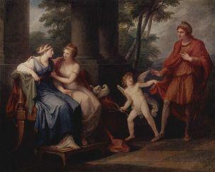 Vênus convence Helena de Tróia a ir com Páris