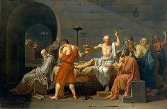 A Morte de Sócrates.