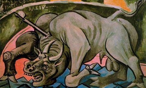 Touro morrendo, de Pablo Picasso