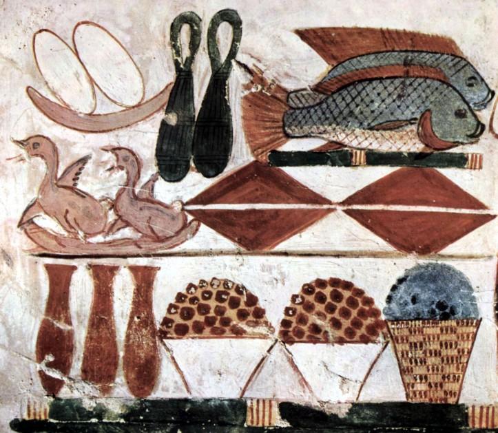 Pintura de oferendas no túmulo de Menna.