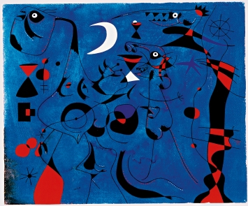 File name: 3275-186.jpg Joan Miró Figures at Night Guided by the Phosphorescent Tracks of Snails, 12 February 1940 watercolor and guache on paper sheet: 37.9 x 45.7 cm (14 15/16 x 18 in.) framed: 58.4 x 73.7 x 4.4 cm (23 x 29 x 1 3/4 in.) Philadelphia Museum of Art, The Louis E. Stern Collection, 1963 © 2012 Successió Miró/Artists Rights Society (ARS), New York/ADAGP, Paris