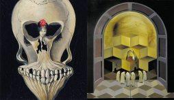 Bailarina em uma cabeça da morte / Crânio de Zurbaran