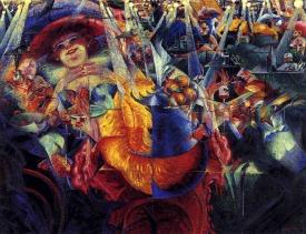 A Risada, de Umberto Boccioni.