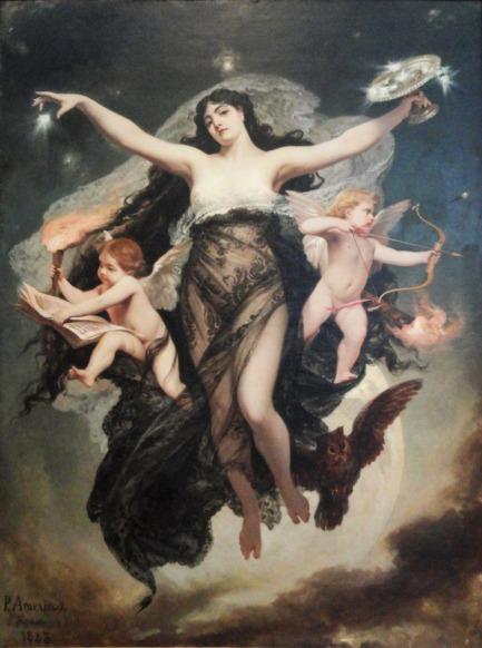 A Noite com os gênios do Estudo e do Amor (Pedro Américo)